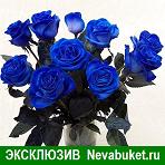 синие розы, купить синие розы