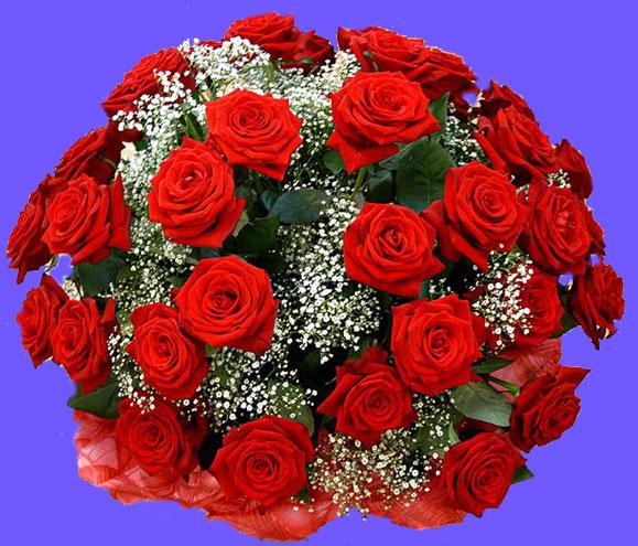 Букет роз с зеленью стандарт